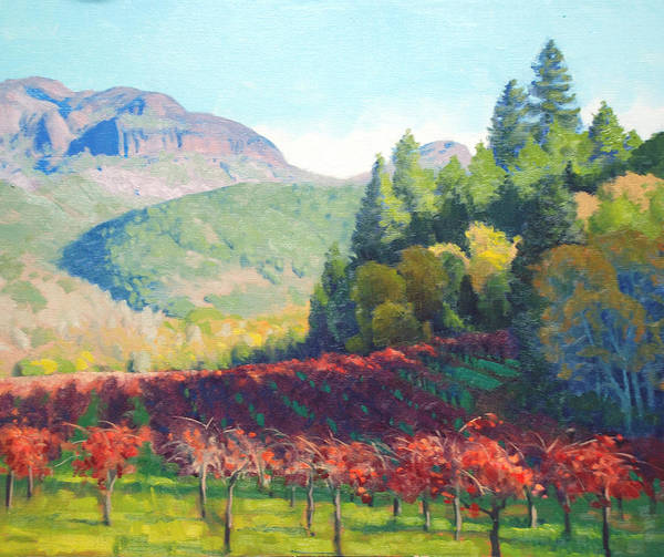 Mountain Range Painting - Beneath The Palisades by Armand Cabrera