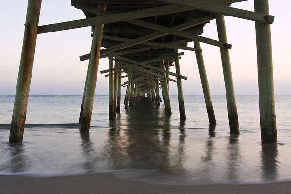 Photograph - Beneath The Pier A Coastal Scenic by Bob Decker
