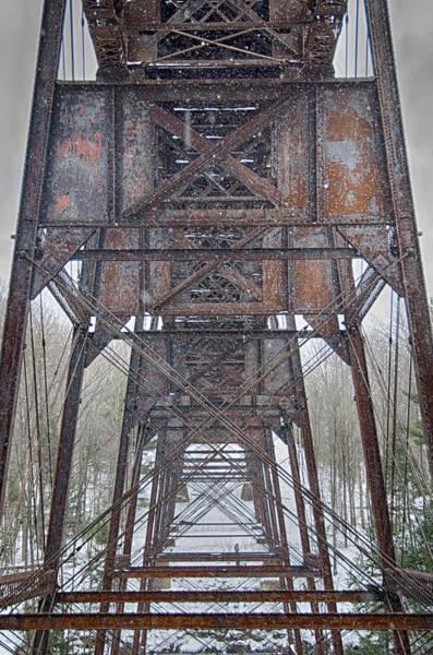Photograph - Beneath The Railroad Bridge   7d00849h by Guy Whiteley