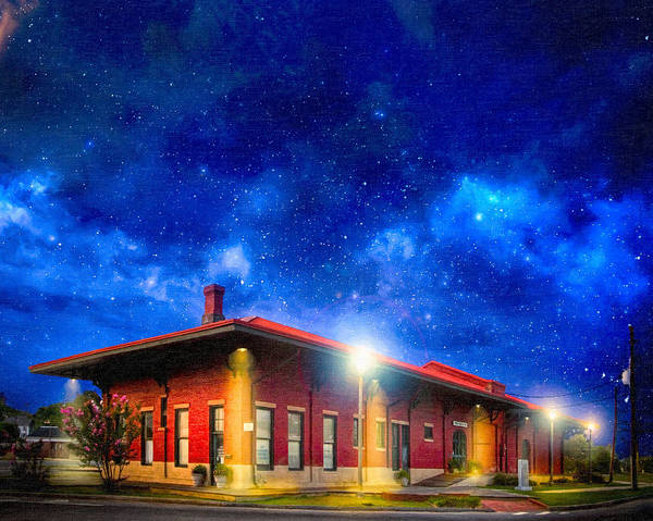 Photograph - Beneath The Stars - Montezuma Train Depot by Mark E Tisdale