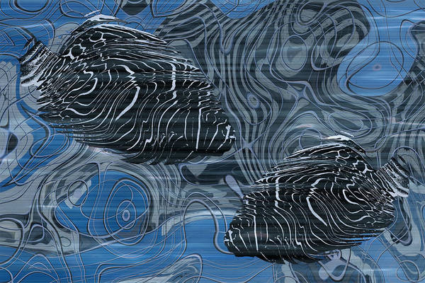 Visual Illusion Wall Art - Painting - Beneath The Waves Series by Jack Zulli