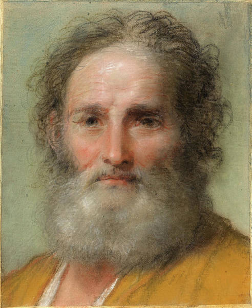 1715 Drawing - Benedetto Luti Italian, 1666 - 1724, Head Of A Bearded Man by Quint Lox