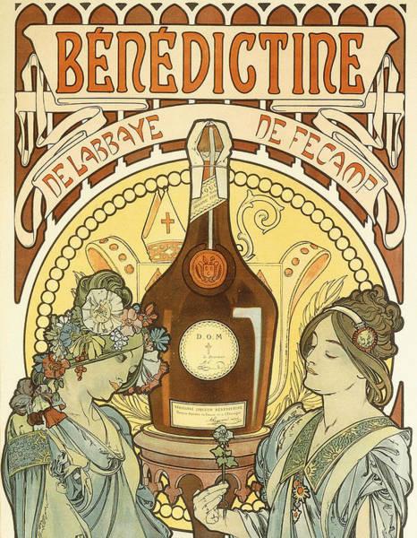 Alphonse Mucha Painting - Benedictine by Alphonse Marie Mucha