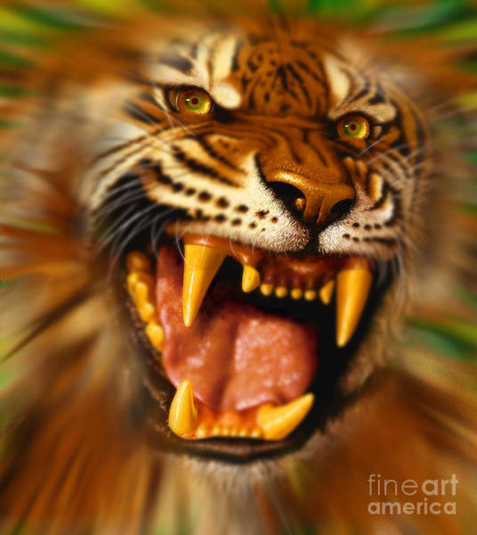 Wall Art - Digital Art - Bengal by Jurek Zamoyski