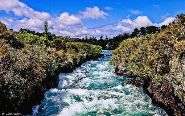 Painting - Benham Rapids Oregon by Bob and Nadine Johnston
