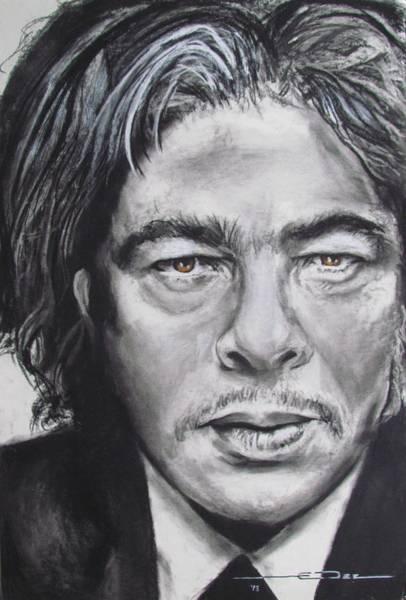 Drawing - Benicio Del Toro by Eric Dee