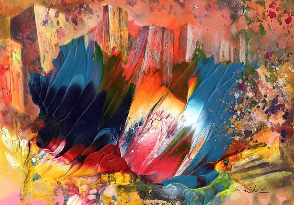 Benidorm Wall Art - Painting - Benidorm En Fleur by Miki De Goodaboom