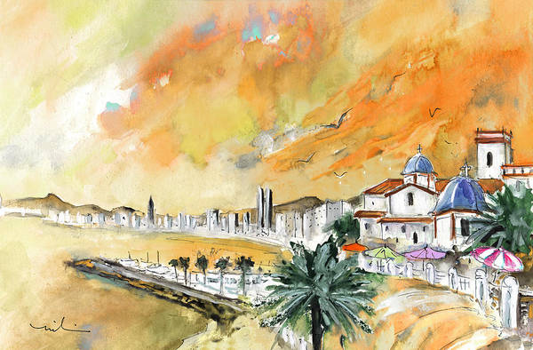Wall Art - Painting - Benidorm Old Town by Miki De Goodaboom