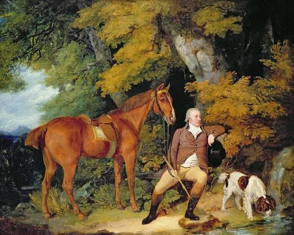 Springer Spaniel Painting - Benjamin Bond Hopkins, Before 1791 by Francis Wheatley