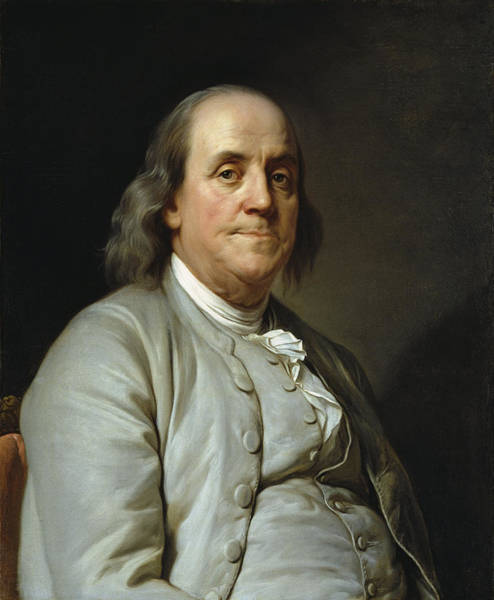 Wall Art - Photograph - Benjamin Franklin By Joseph Duplessis  C. 1785 by Daniel Hagerman