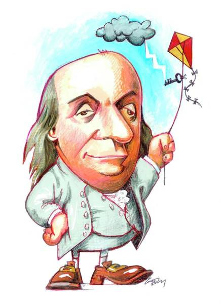 Kite Photograph - Benjamin Franklin by Gary Brown