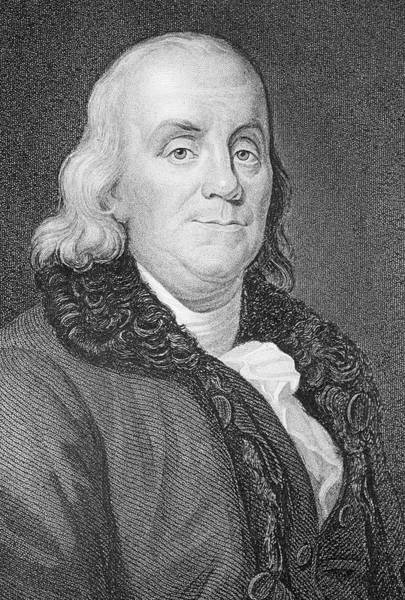 Declaration Of Independence Photograph - Benjamin Franklin by George Bernard/science Photo Library
