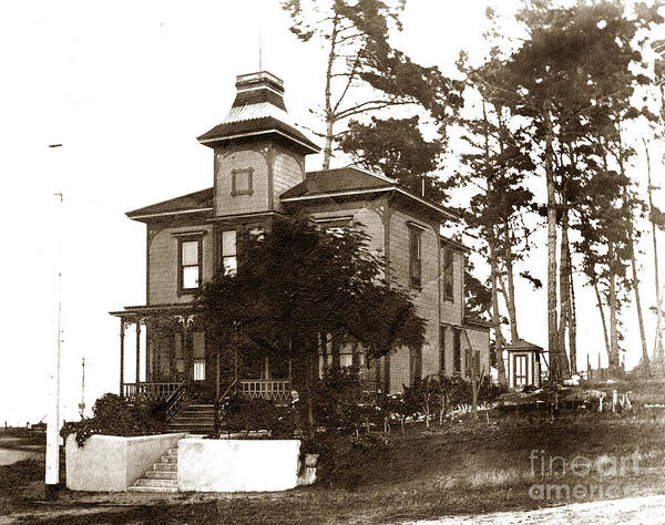 Photograph - Benjamin J. Langford House Is An Italinate  Style House Pacific Grove Circa 1900 by California Views Archives Mr Pat Hathaway Archives
