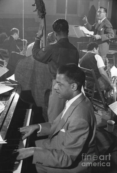 Gene Photograph - Benny Goodman Orchestra During Studio Rehearsal 1953 by The Harrington Collection