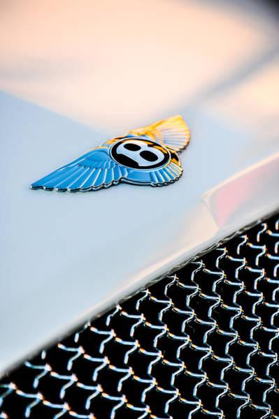 Photograph - Bentley Emblem -1161c by Jill Reger