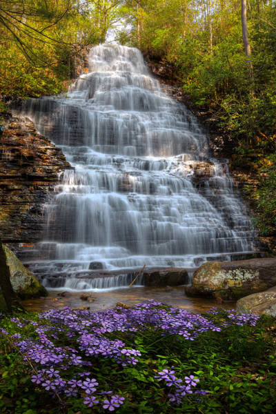 Wall Art - Photograph - Benton Falls In Spring by Debra and Dave Vanderlaan