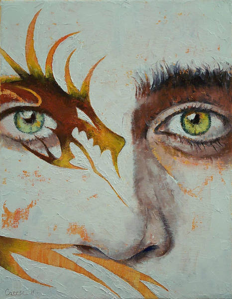 Goth Painting - Beowulf by Michael Creese