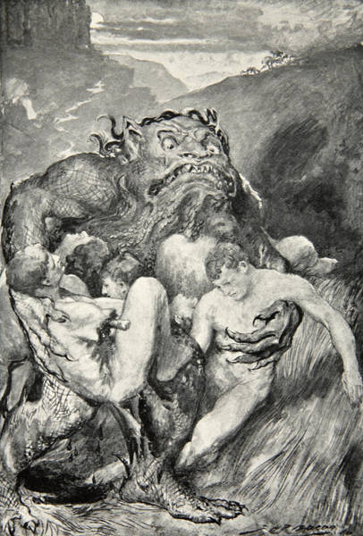 Print Drawing - Beowulf Print by John Henry Frederick Bacon