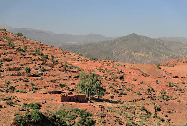 Mud House Photograph - Berber Farm House In The High Atlas by Anthony Collins