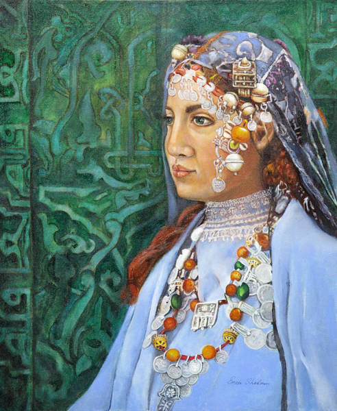 Wall Art - Painting - Berber Woman by Portraits By NC