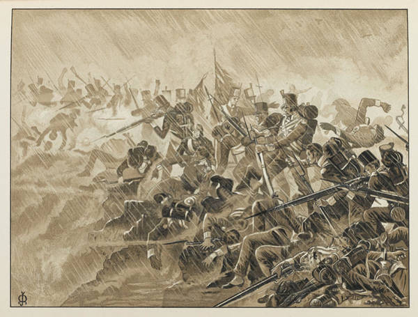 Wall Art - Drawing - Beresford Defeats Soult At  Albuera by Mary Evans Picture Library