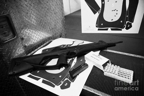 Beretta Wall Art - Photograph - Beretta Cx4 Storm 9mm Semi Automatic Rifle At A Gun Range In Florida Usa by Joe Fox