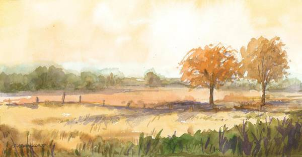 Painting - Berglund Farm  Western View   Eagle Wisconsin by Cameron Berglund