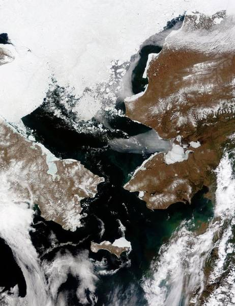 Lawrence Photograph - Bering Strait by Nasa/science Photo Library