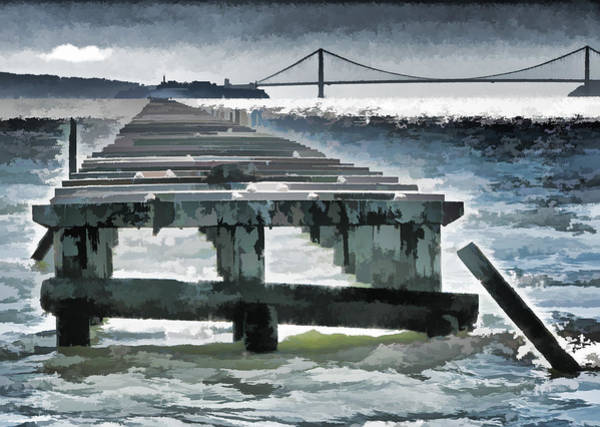 Photograph - Berkeley Marina Pier Study 1 by Samuel Sheats