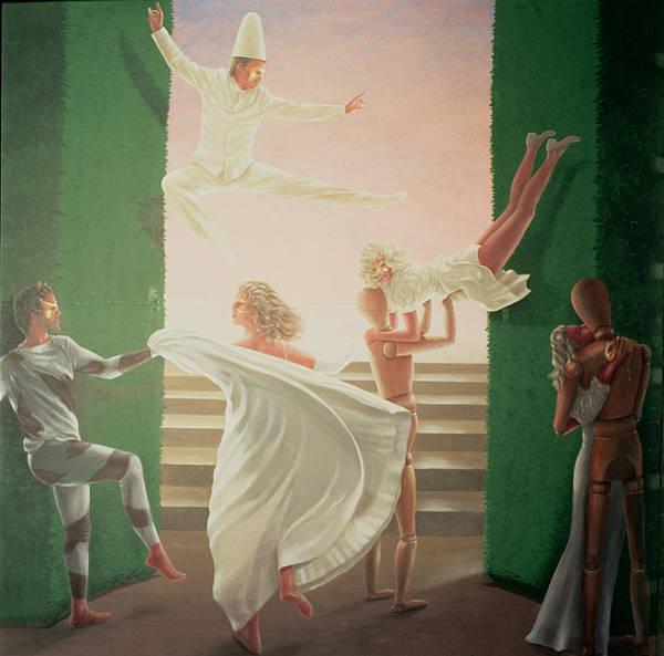 Acrobat Photograph - Berkley House Murals - 3 by Lincoln Seligman
