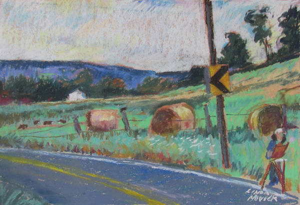 Painting - Berkshire Mountain Painter by Linda Novick