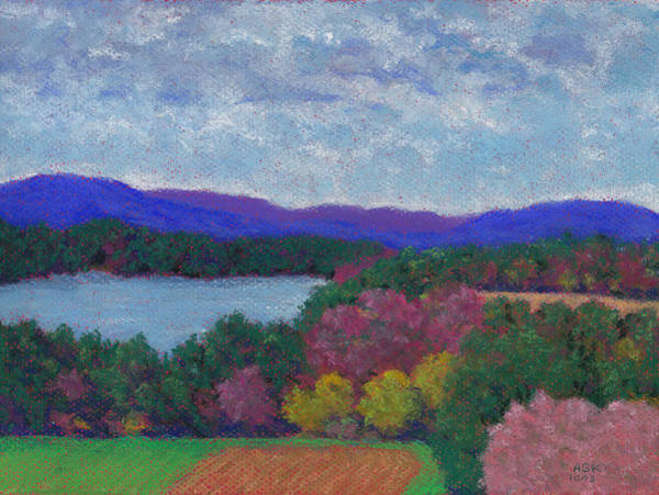 Pastel - Berkshires In Late October by Anne Katzeff