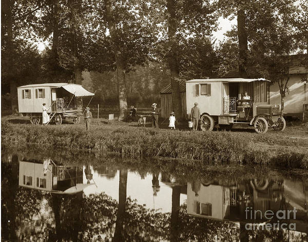 Photograph - Berliet C B A French Cba Truck Called The Deam Le Reve France Circa 1913 by California Views Archives Mr Pat Hathaway Archives