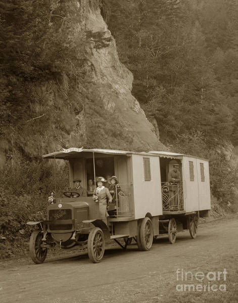 Photograph - Berliet Cba French C B A Truck Called The Deam Le Reve Circa 1913 by California Views Archives Mr Pat Hathaway Archives