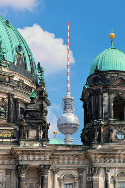 Tv Tower Photograph - Berlin Catherdral by Michal Bednarek