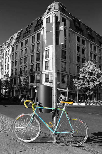 Photograph - Berlin Street View With Bianchi Bike by Ben and Raisa Gertsberg