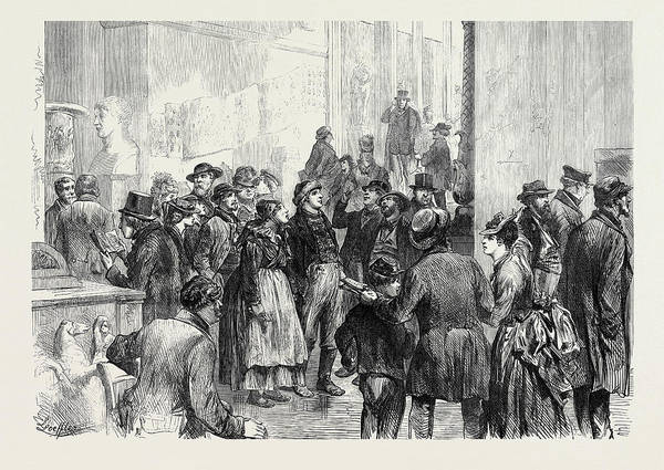 Wall Art - Drawing - Berlin Sunday At The Museum 1873 by German School