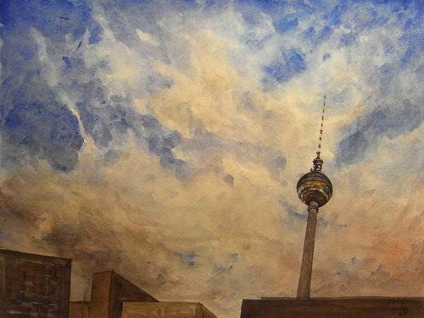 Wall Art - Painting - Berliner Sky by Juan  Bosco