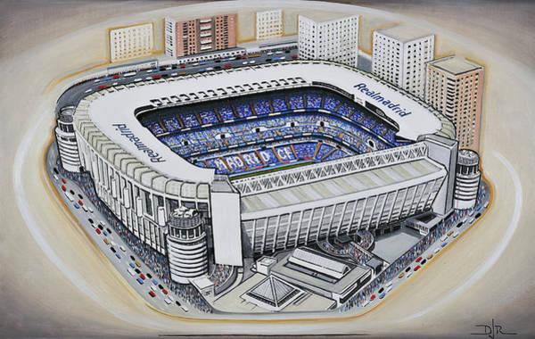 Wall Art - Painting - Bernabeu - Real Madrid by D J Rogers