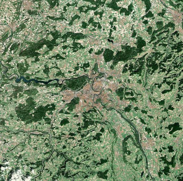 Landsat 7 Wall Art - Photograph - Berne by Mda Information Systems/science Photo Library