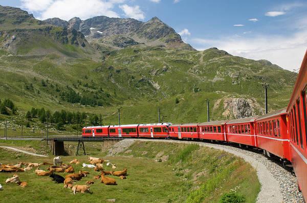 Passenger Car Photograph - Bernina Express by Patrickhutter