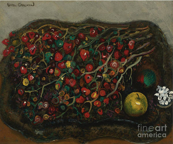 Painting - Berries And Apples by Celestial Images