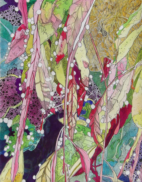 Mixed Media - Berries And Cactus by Terry Holliday