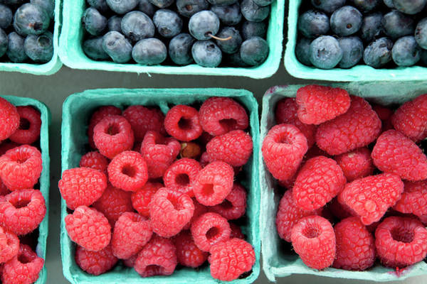 Fruit Photograph - Berries At A Farmers Market by Lauren Krohn