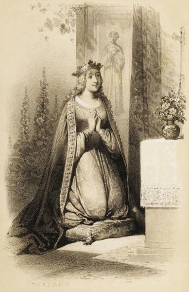 Influence Drawing - Bertha, Berta, Berte, Berthe, Bertrada by Mary Evans Picture Library