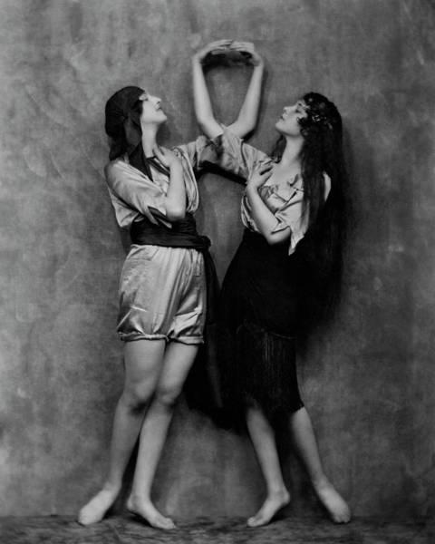 1922 Photograph - Berthe And Francesca Braggiotii Posing by Nickolas Muray