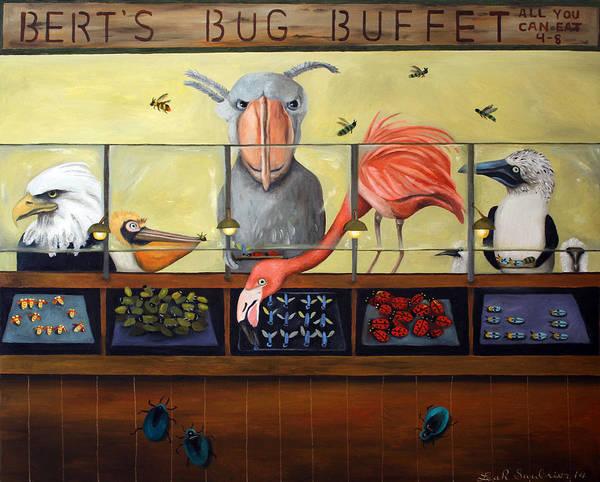 Boobies Painting - Bert's Bug Buffet by Leah Saulnier The Painting Maniac