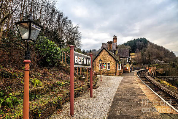 Railway Station Photograph - Berwyn Station by Adrian Evans