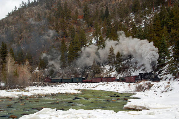 K-28 Photograph - Beside The Animas River by Ken Smith