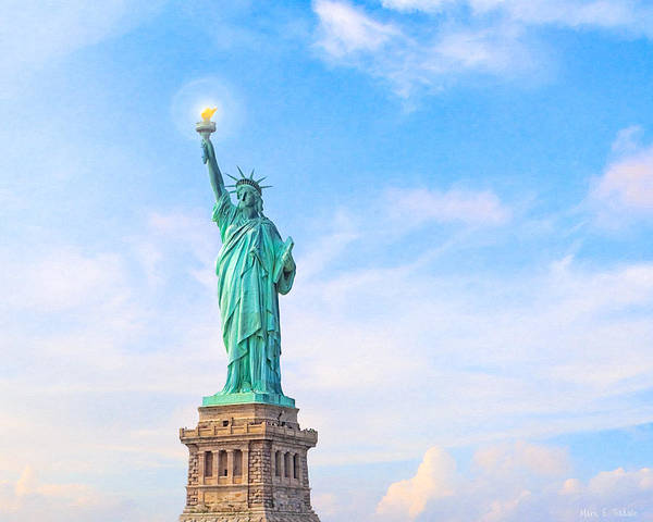 Statue Of Liberty National Monument Wall Art - Photograph - Beside The Golden Door - Statue Of Liberty by Mark E Tisdale